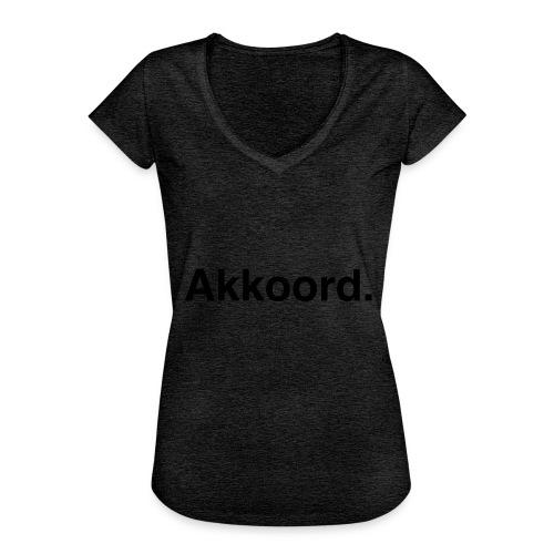 Akkoord - Vrouwen Vintage T-shirt