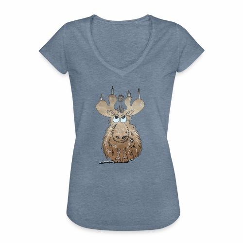 Elch und Vogel - Frauen Vintage T-Shirt