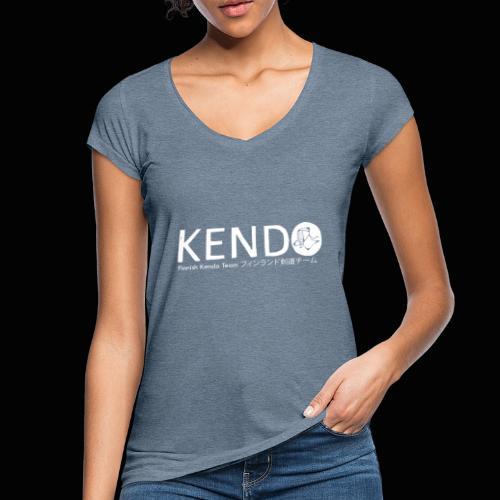 Finnish Kendo Team Text - Naisten vintage t-paita