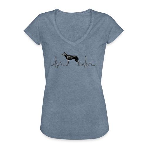 ECG met hond - Vrouwen Vintage T-shirt