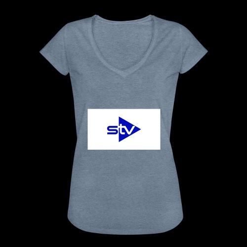 Skirä television - Vintage-T-shirt dam