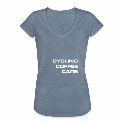 Cycling Cars & Coffee - Women's Vintage T-Shirt