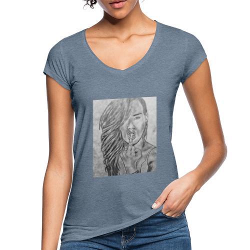 Jyrks_kunstdesign - Dame vintage T-shirt