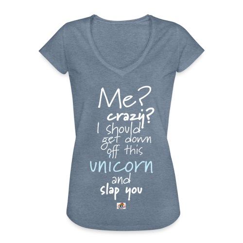 Crazy Unicorn - Dark - Women's Vintage T-Shirt