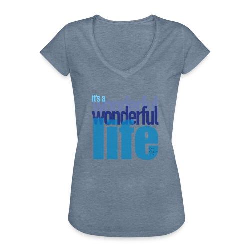 It's a wonderful life blues - Women's Vintage T-Shirt