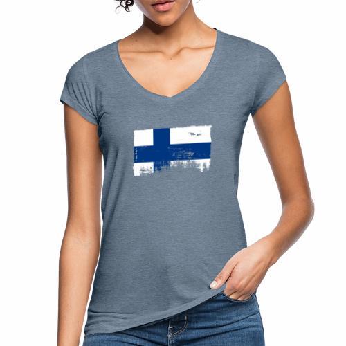 Suomen lippu, Finnish flag T-shirts 151 Products - Naisten vintage t-paita