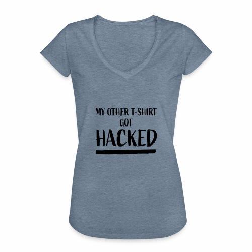 Got Hacked - Vrouwen Vintage T-shirt