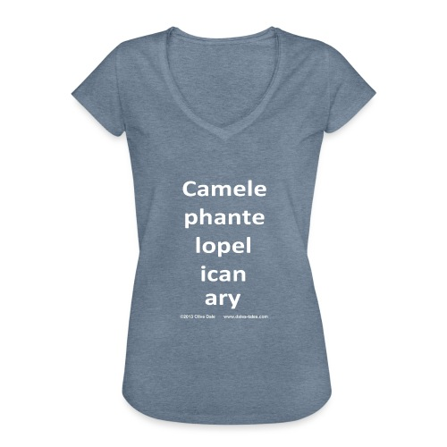 camelepha 5lines white - Women's Vintage T-Shirt