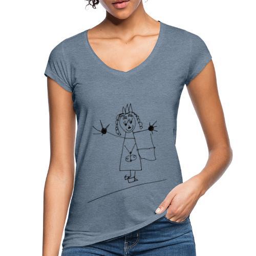 Selbst gemahlt in schwarz - Frauen Vintage T-Shirt
