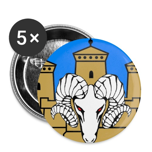 linnanpässi - Rintamerkit isot 56 mm (5kpl pakkauksessa)