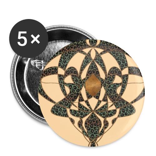 Jugendstil Art Nouveau Vintage Gift Beige - Buttons large 2.2''/56 mm(5-pack)