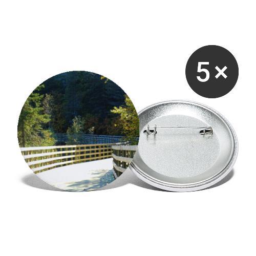 Chemin dans la forêt - Lot de 5 grands badges (56 mm)