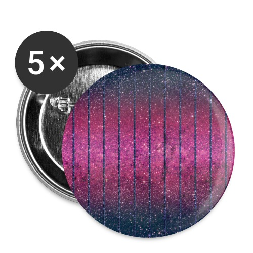 Glitter Muster in Pink rosa Blau schillernd Chic - Buttons large 2.2''/56 mm (5-pack)