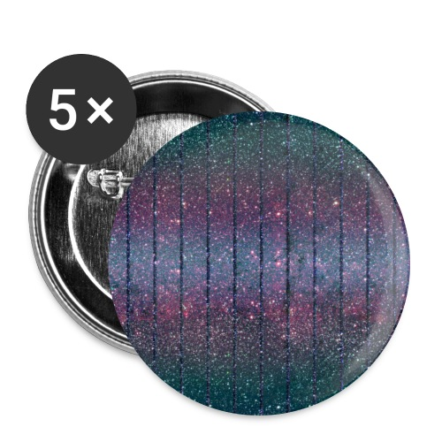 Burlesque drag queen glitter pattern blue purple green - Buttons large 2.2''/56 mm (5-pack)