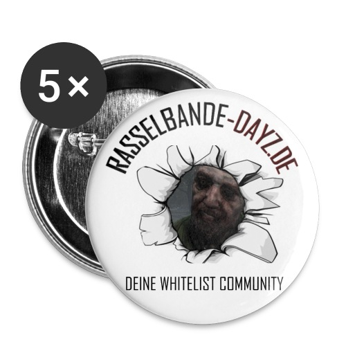 Rasselbande-zombie - Buttons groß 56 mm (5er Pack)