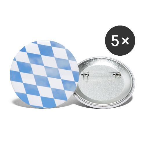 Himmlische Bayern Rauten Bayerische Fahne - Buttons groß 56 mm (5er Pack)