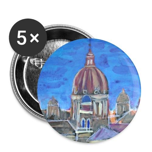 Veduta di Roma - Confezione da 5 spille grandi (56 mm)