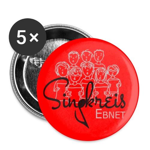 Frauke_Singkreis_mitSchri - Buttons groß 56 mm (5er Pack)