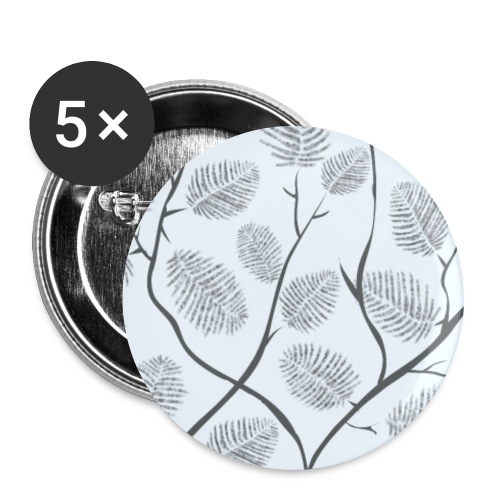 """Lovedesh BD """"Tree feather"""" - Buttons large 2.2''/56 mm(5-pack)"""