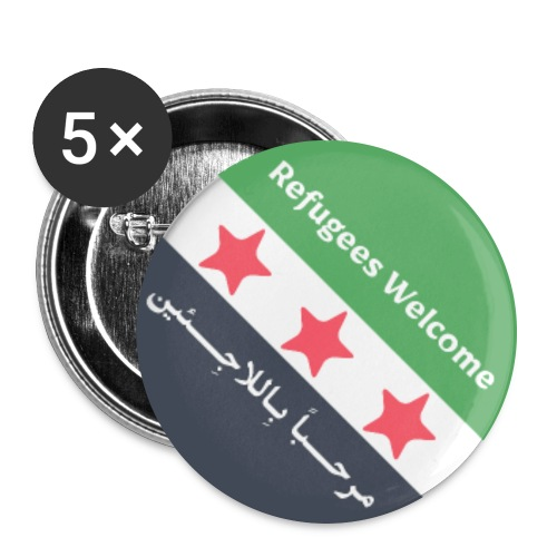 Refugees Welcome - Buttons large 2.2''/56 mm (5-pack)