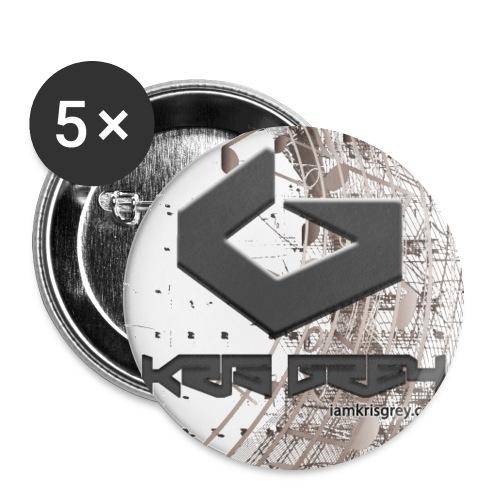 ShirtCut0001 - Buttons groß 56 mm (5er Pack)
