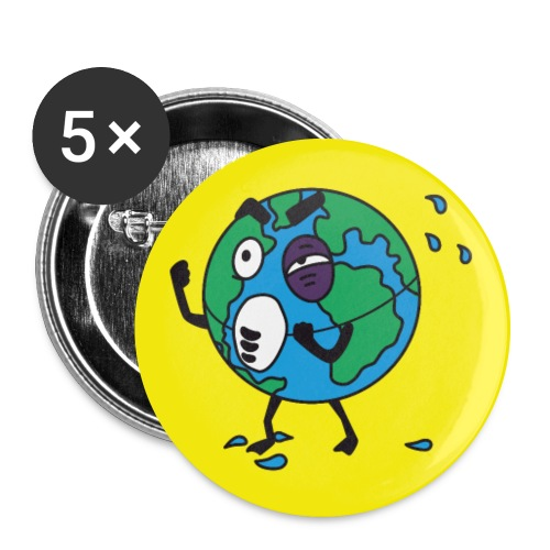 Terre2 - Lot de 5 grands badges (56 mm)