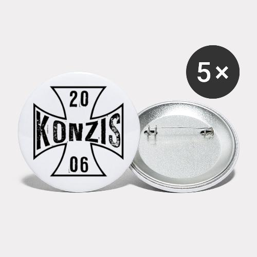Iron Cross White - Buttons groß 56 mm (5er Pack)