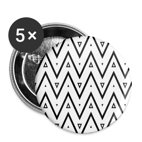 Motif en V - Lot de 5 grands badges (56 mm)