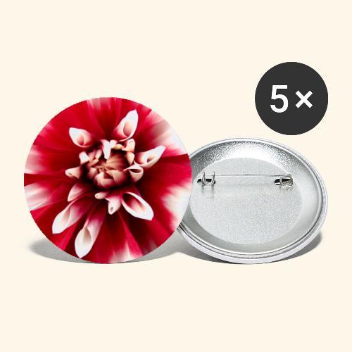 Dahlienblüte, Blume, Blüte, foral, blumig, Blumen - Buttons groß 56 mm (5er Pack)