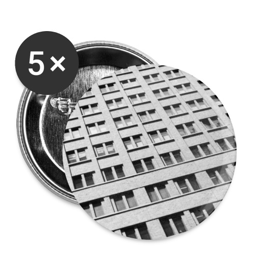 Hauswand - Buttons groß 56 mm (5er Pack)