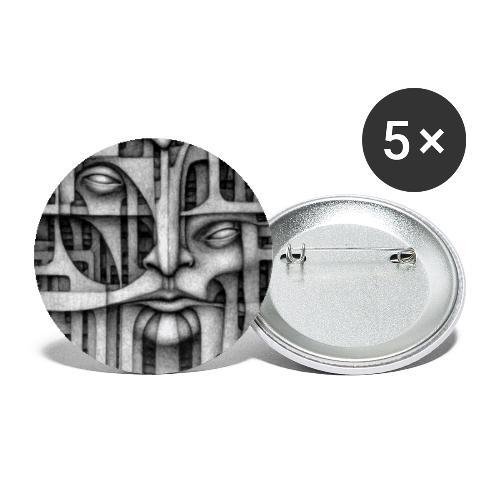 Personalities - Personalità Diverse - Confezione da 5 spille grandi (56 mm)