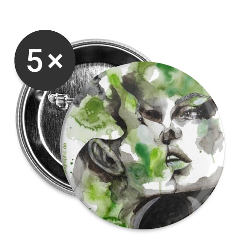 Kiss by carographic - Buttons groß 56 mm (5er Pack)
