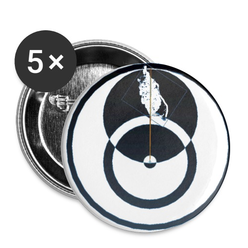 Isle Of Man QED - Buttons large 2.2''/56 mm(5-pack)