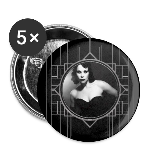 Femme Fatale Xarah Design 2 - Buttons large 2.2''/56 mm (5-pack)
