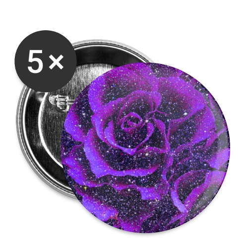 Purple roses romantic vintage floral gift - Buttons large 2.2''/56 mm(5-pack)