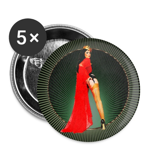 Pinup your Life - Xarah as Pinupart - Queen - Buttons large 2.2''/56 mm(5-pack)