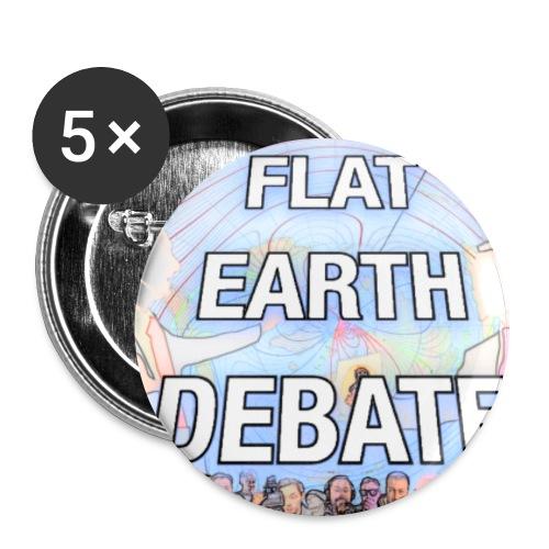 Flat Earth Debate Cartoon - Buttons large 2.2''/56 mm(5-pack)