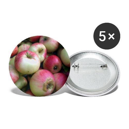 Äpfel - Buttons groß 56 mm (5er Pack)