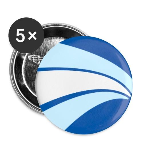logo circulo 3colores - Paquete de 5 chapas grandes (56 mm)