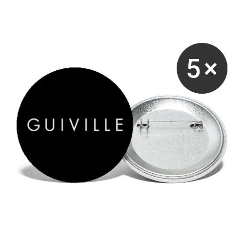 Guiville logo circle - Buttons large 2.2''/56 mm(5-pack)