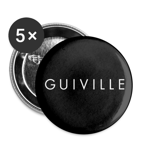 Guiville logo circle - Buttons large 2.2''/56 mm (5-pack)