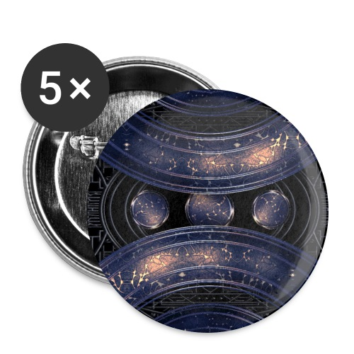 Universe outer space blue outer space galaxy art - Buttons large 2.2''/56 mm (5-pack)