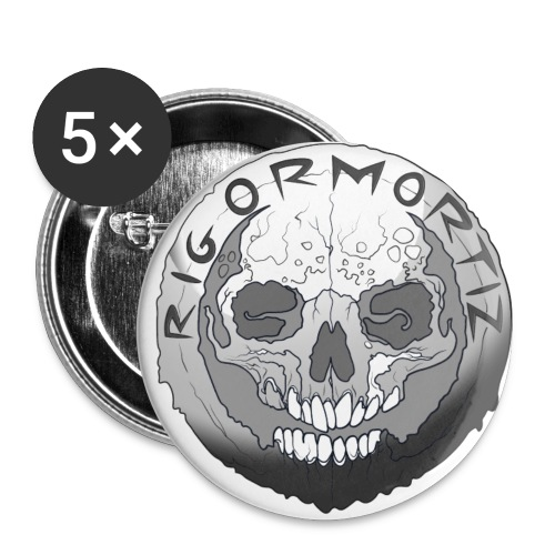 Rigormortiz Black and White Design - Buttons large 2.2''/56 mm(5-pack)