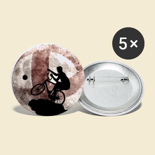 Radball   Cycle Ball Moon - Buttons groß 56 mm (5er Pack)