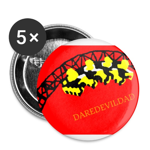DareDevilDad - Buttons large 2.2''/56 mm (5-pack)