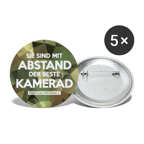 Polygon Mundschutz - mit Abstand der beste Kamerad - Buttons groß 56 mm (5er Pack)