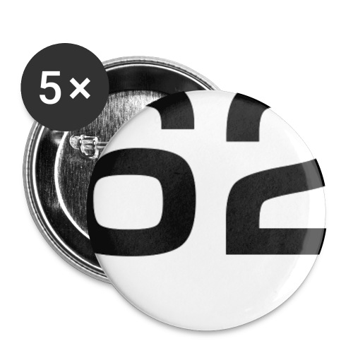 62 - Buttons groß 56 mm (5er Pack)