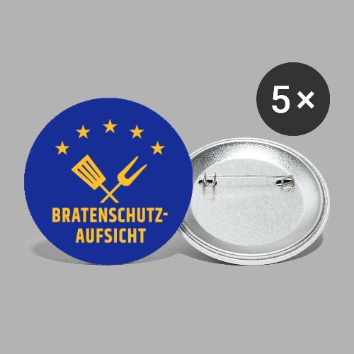 EU Bratenschutz-Aufsicht - Buttons groß 56 mm (5er Pack)