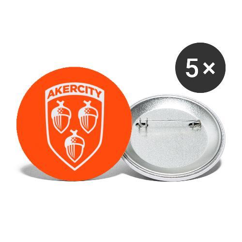 Akercity Schild Button - Buttons groot 56 mm (5-pack)