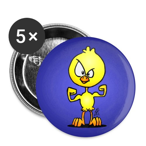 Power chick - Buttons large 2.2''/56 mm(5-pack)